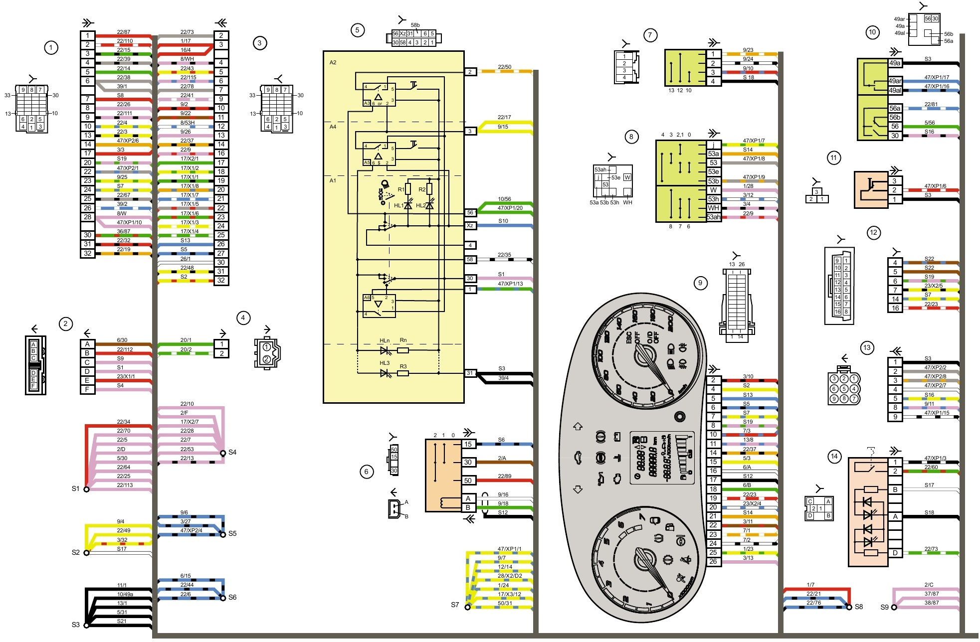 Блок управления светом калина люкс схема