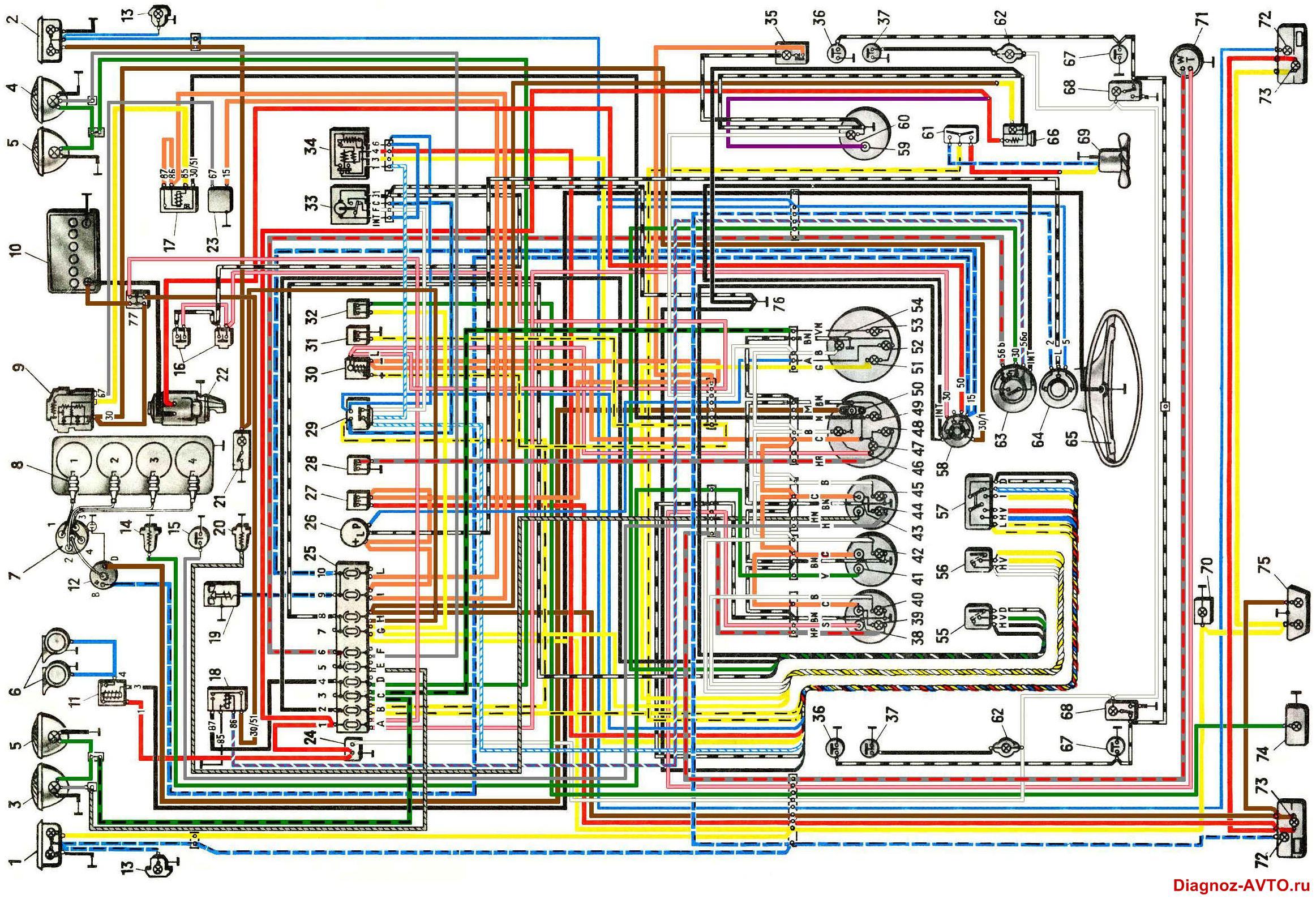 Электрическая схема в автомобиле
